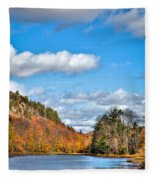 Autumn At Bald Mountain Pond Fleece Blanket