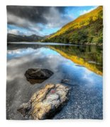 Autumn At Crafnant  Fleece Blanket
