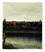 Autumn At Deer Lake Fleece Blanket