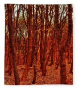Autumn At Formby Woods  Fleece Blanket