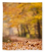 Autumn At Great Falls Fleece Blanket
