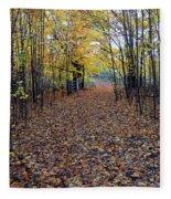 Autumn At Mono Cliffs Fleece Blanket