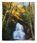 Autumn At Moss Glenn Falls Fleece Blanket