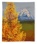 Autumn At Mt Shasta Fleece Blanket
