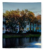Autumn At Old Key West Resort Panorama Walt Disney World Fleece Blanket