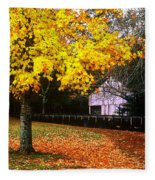 Autumn At Old Mill Fleece Blanket