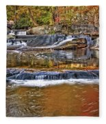 Autumn At Olmsted Falls Fleece Blanket
