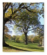 Autumn At Runnymede Uk Fleece Blanket