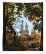 Autumn At San Remo Fleece Blanket
