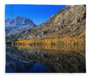 Autumn At Silver Lake Fleece Blanket