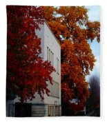 Autumn At The Grants Pass Courthouse Fleece Blanket