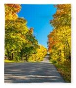 Autumn Back Road Fleece Blanket