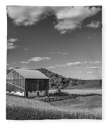 Autumn Barn Monochrome Fleece Blanket
