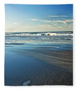 Relaxing Autumn Beach  Fleece Blanket