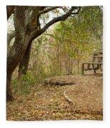 Autumn Bench Fleece Blanket