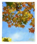 Autumn Blues Fleece Blanket