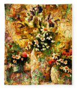 Autumn Bounty - Abstract Expressionism Fleece Blanket