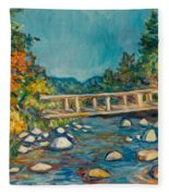 Autumn Bridge Fleece Blanket