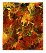 Autumn Burst Fleece Blanket