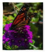 Autumn Butterfly Fleece Blanket