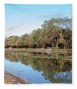 Autumn By The Erie Canal Fleece Blanket