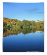 Autumn By The Lake 3 Fleece Blanket