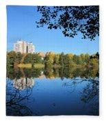 Autumn By The Lake 6 Fleece Blanket