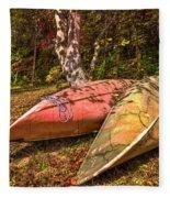 Autumn Canoes Fleece Blanket