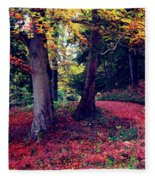 Autumn Carpet In The Enchanted Wood Fleece Blanket