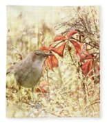 Autumn Catbird Fleece Blanket