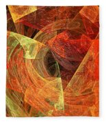 Autumn Chaos Fleece Blanket