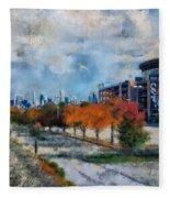 Autumn Chicago White Sox Us Cellular Field Mixed Media 03 Fleece Blanket