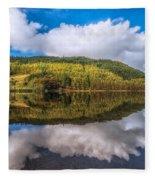 Autumn Clouds Fleece Blanket