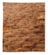 Autumn Cobble Stone Road II Fleece Blanket