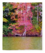 Autumn Color In Norfolk Botanical Garden 1 Fleece Blanket