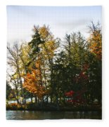 Autumn Color On The Fulton Chain Of Lakes Fleece Blanket