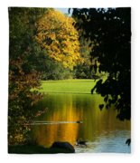 Autumn Colors 2 Fleece Blanket