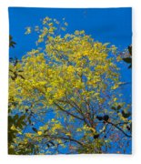 Autumn Colors Against The Sky Fleece Blanket