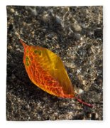 Autumn Colors And Playful Sunlight Patterns - Cherry Leaf Fleece Blanket
