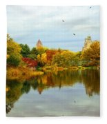 Autumn Colors - Nyc Fleece Blanket