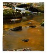 Autumn Colors On Little River Fleece Blanket