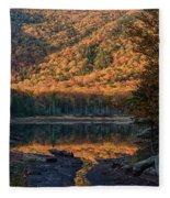 Autumn Colors Reflected In Stream Fleece Blanket