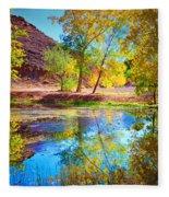 Autumn Colours In Moab Fleece Blanket