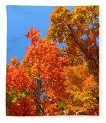 Autumn Contrasts Fleece Blanket