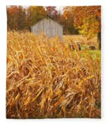 Autumn Corn Fleece Blanket