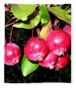 Autumn Crab Apples Fleece Blanket