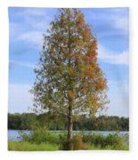 Autumn Cypress Tree Fleece Blanket