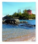 Rocky Shore Fleece Blanket