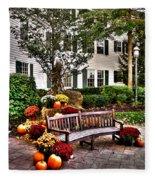Autumn Display At The Sagamore Resort Fleece Blanket