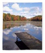 Autumn Dock Fleece Blanket